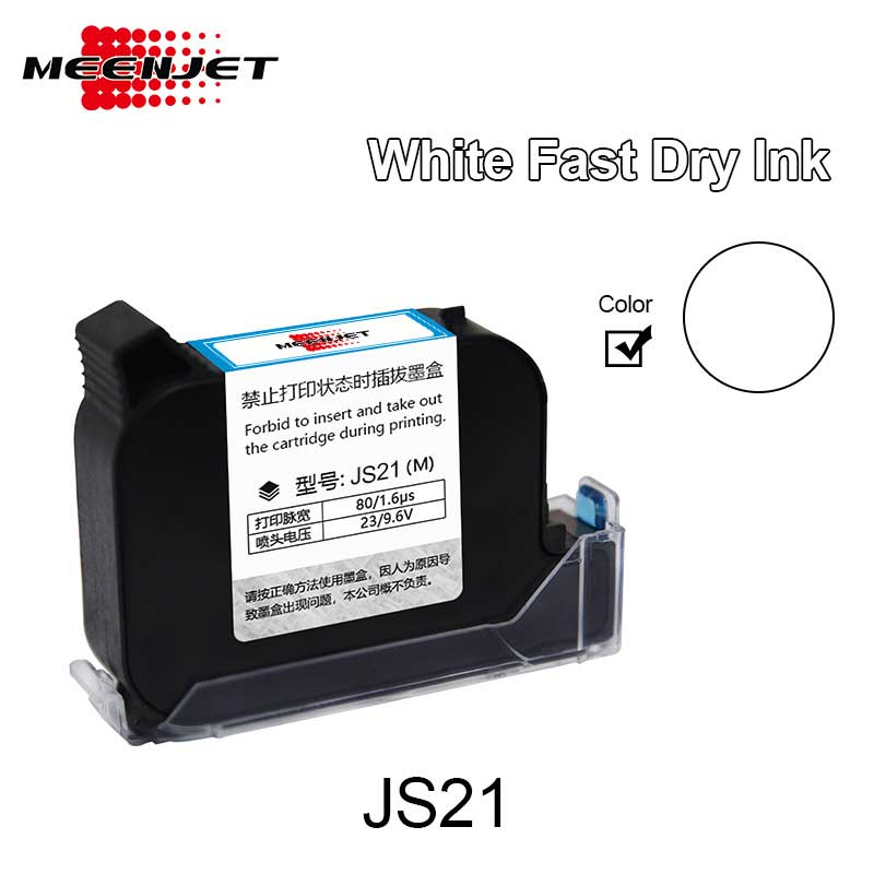 White Solvent Inkjet Ink Cartridges