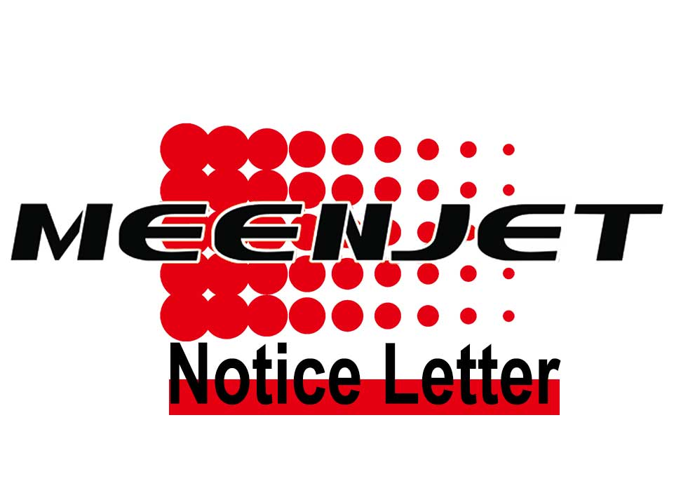 Meenjet and HP Logo Trademark Prohibited Using Notice