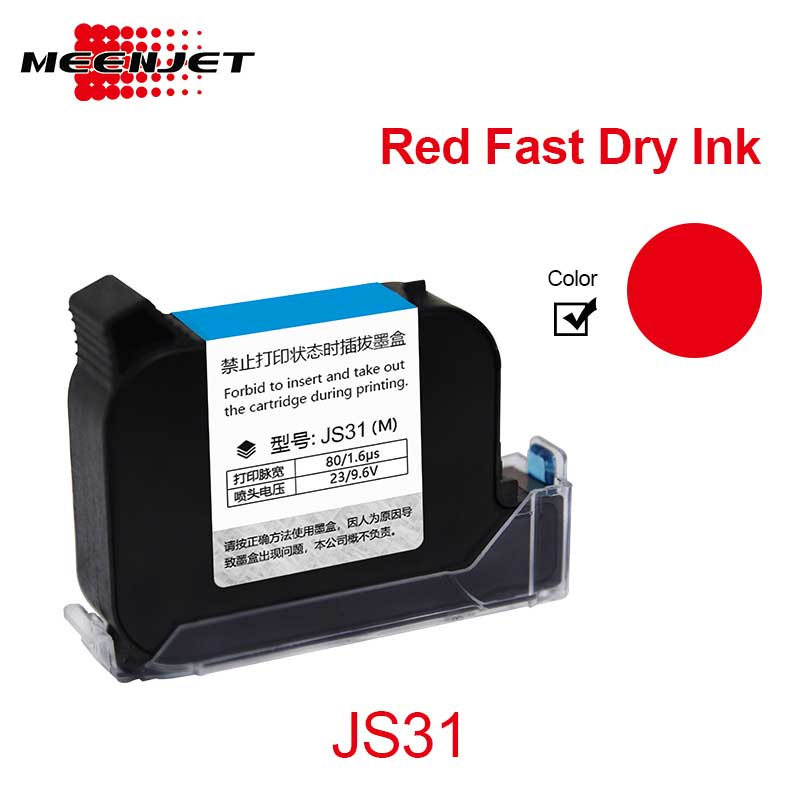 Red Solvent Ink Cartridges for Printer